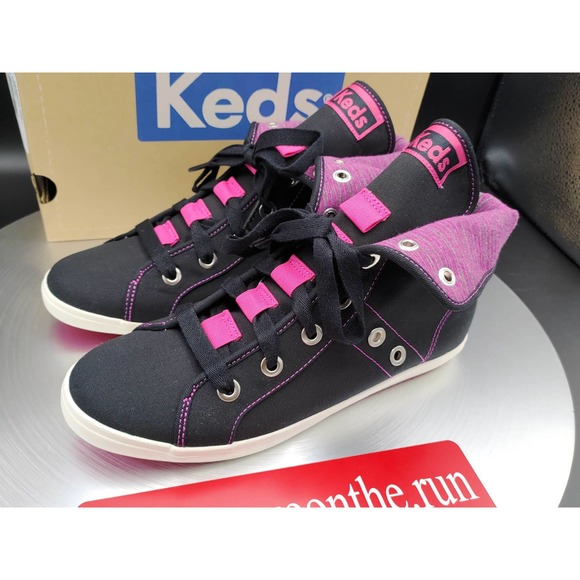 Keds Rookie Loop-De-Loop Black Pink